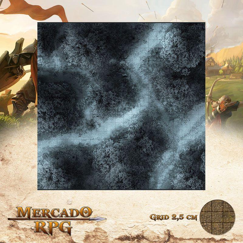 Estrada na Floresta Noturna A 50x50 - RPG Battle Grid D&D