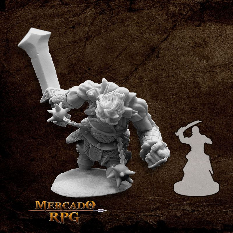 Fire Giant Warrior - Miniatura RPG  - Mercado RPG
