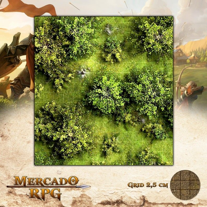 Floresta 50x50 - RPG Battle Grid D&D