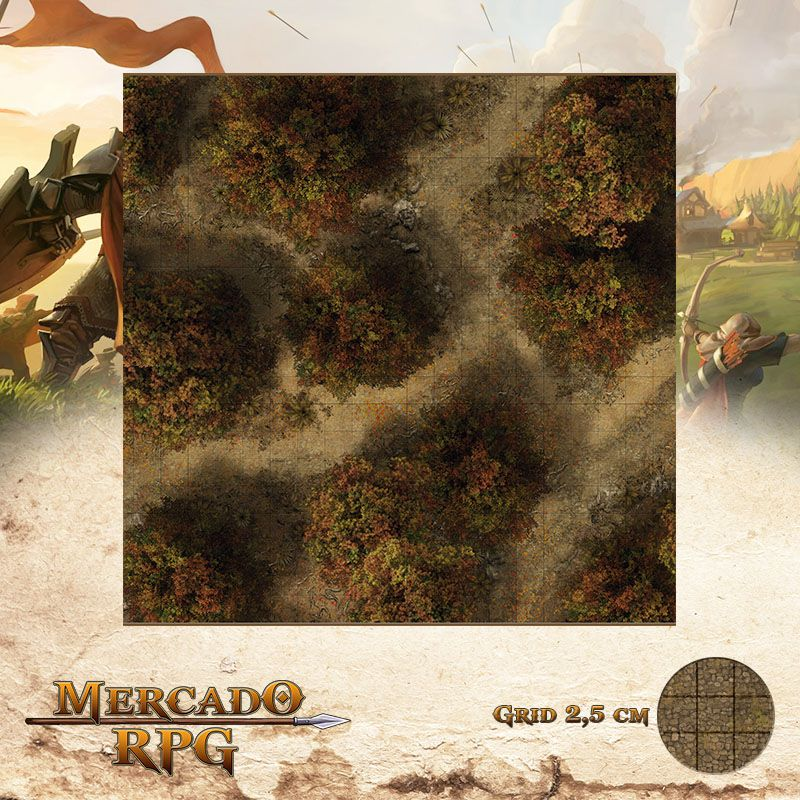 Floresta do Outono A 50x50 - RPG Battle Grid D&D