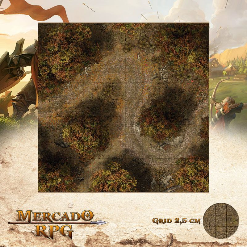 Floresta do Outono B 50x50 - RPG Battle Grid D&D