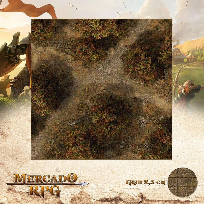 Floresta do Outono C 50x50 - RPG Battle Grid D&D