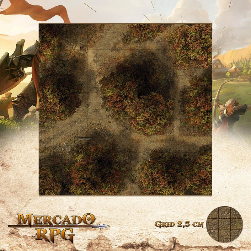 Floresta do Outono D 50x50 - RPG Battle Grid D&D