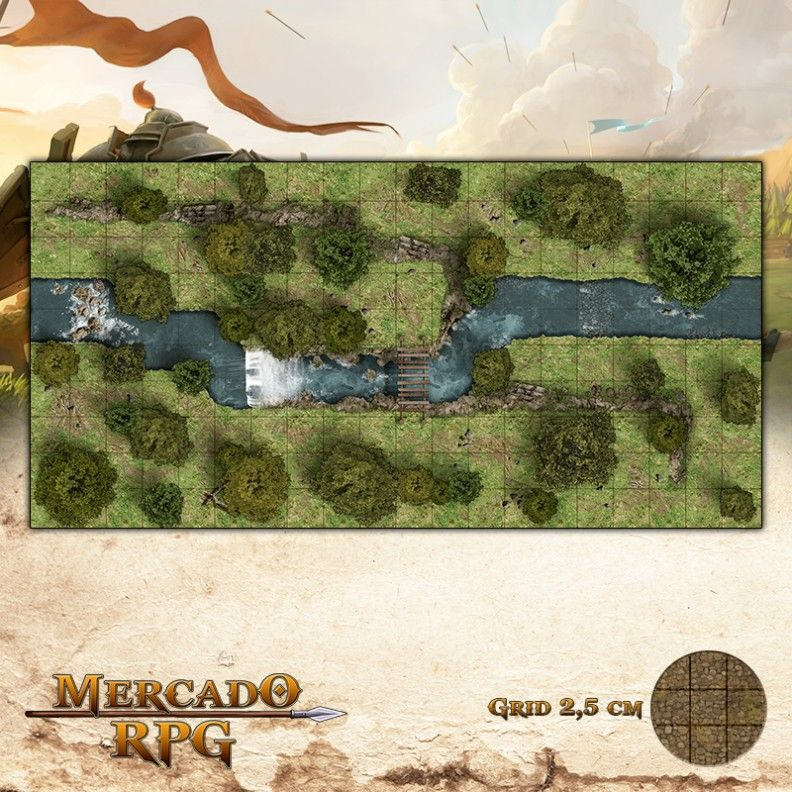 Floresta do Verão 50x25 - RPG Battle Grid D&D