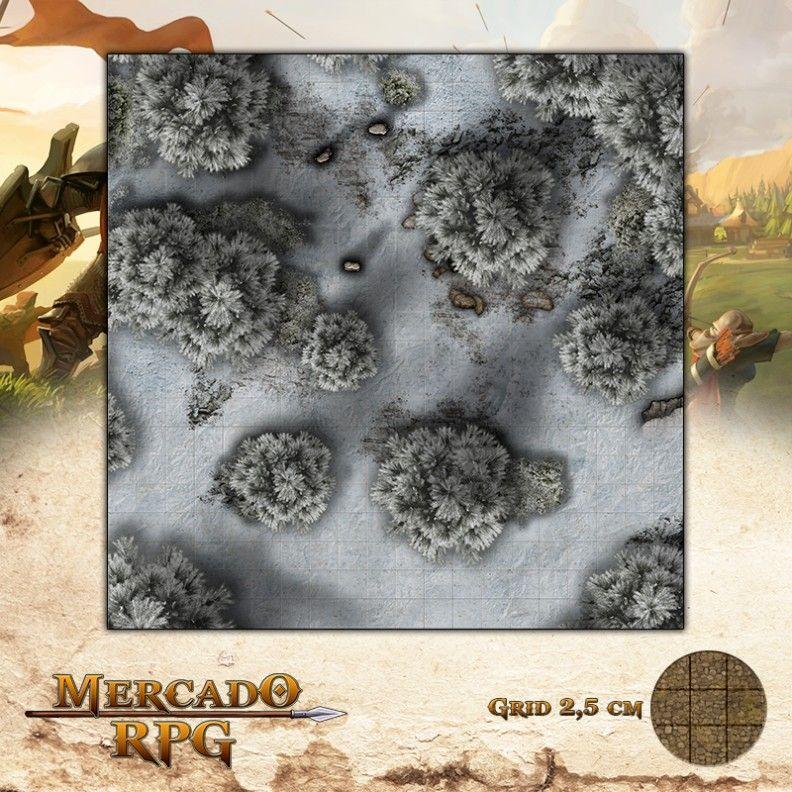 Floresta dos Ermos Gélidos 50x50 - RPG Battle Grid D&D