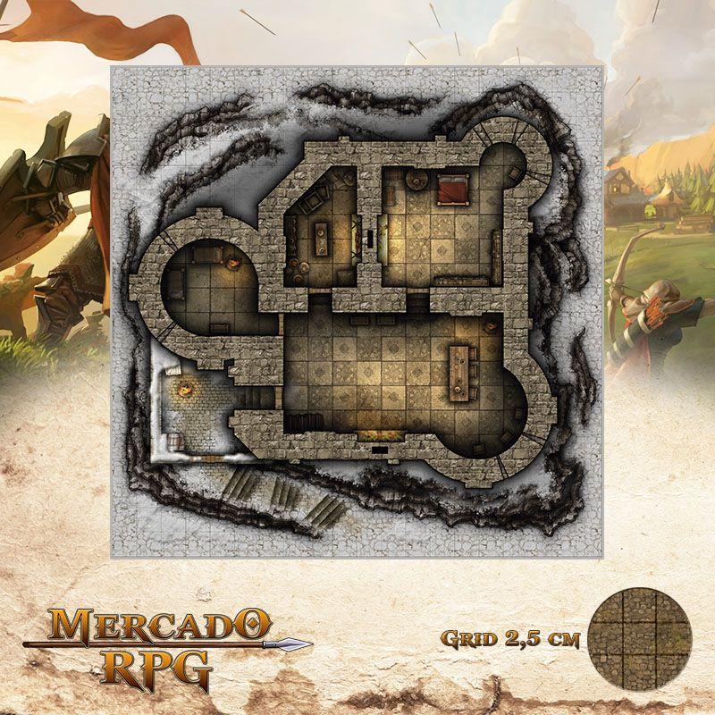 Fortificação do Ninho da Águia 50x50 - RPG Battle Grid D&D