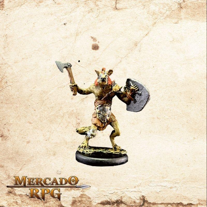 Gnoll - Machado e Escudo  - Mercado RPG