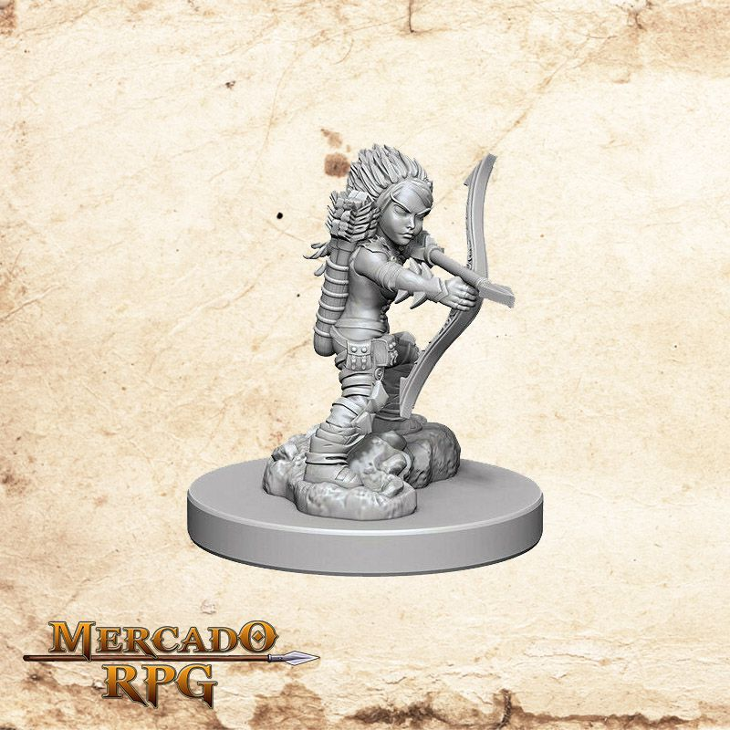 Gnome Female Rogue B - Miniatura RPG  - Mercado RPG