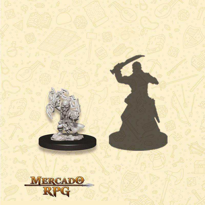 Gnome Male Sorcerer A - Miniatura RPG  - Mercado RPG