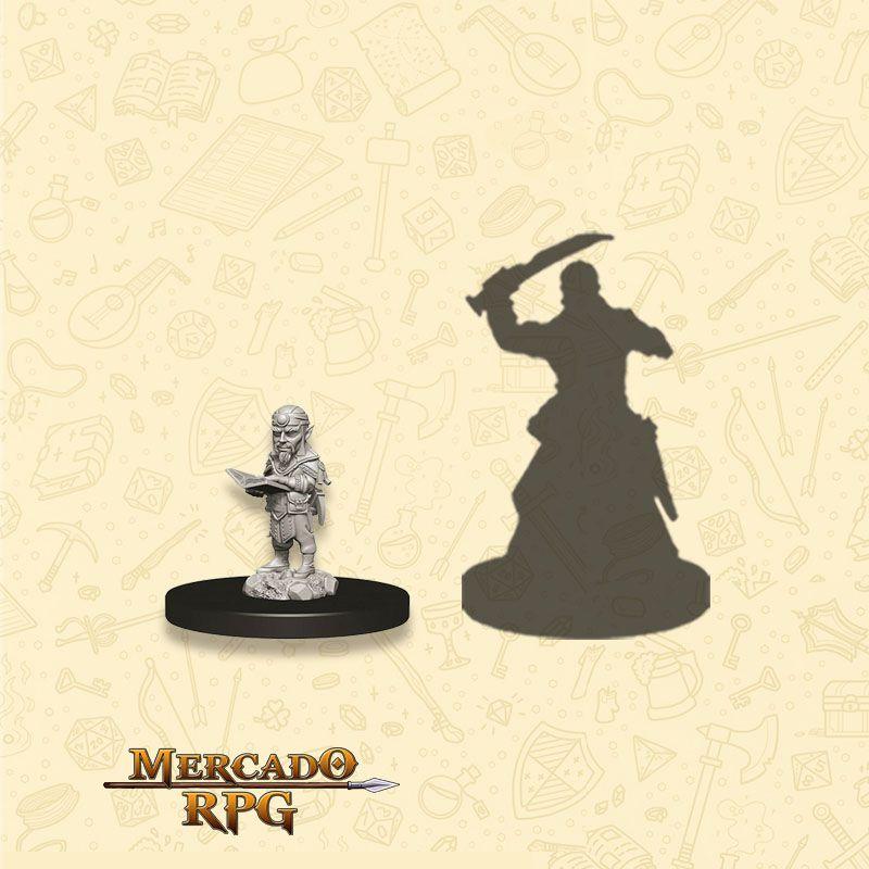 Gnome Male Sorcerer B - Miniatura RPG  - Mercado RPG