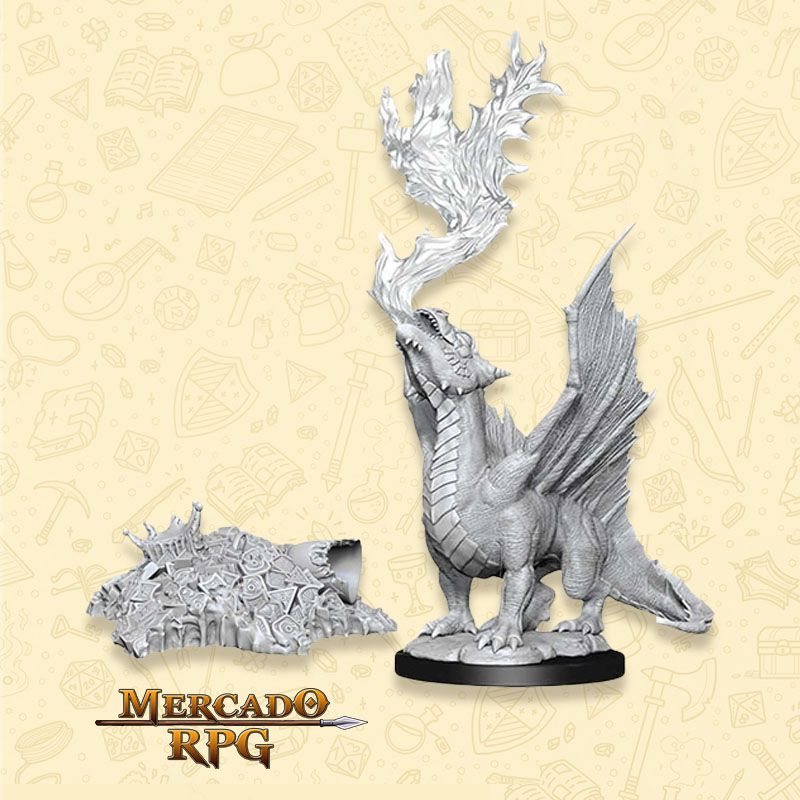 Gold Dragon Wyrmling - Miniatura RPG  - Mercado RPG