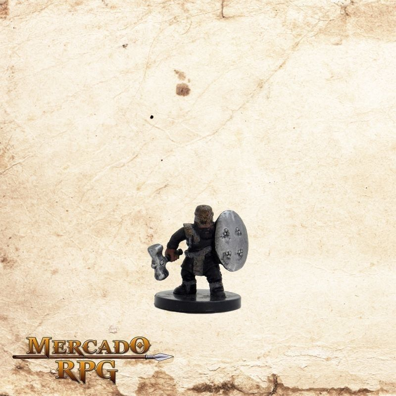 Gold Dwarf Soldier - Com carta  - Mercado RPG