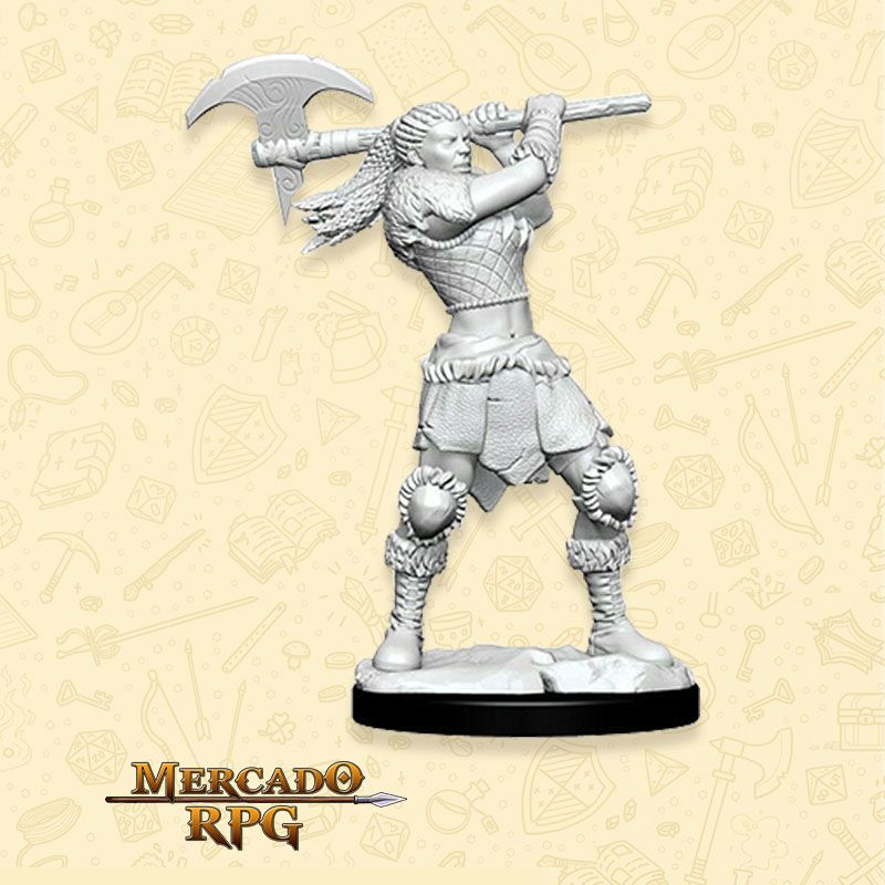 Goliath Female Barbarian B - Miniatura RPG