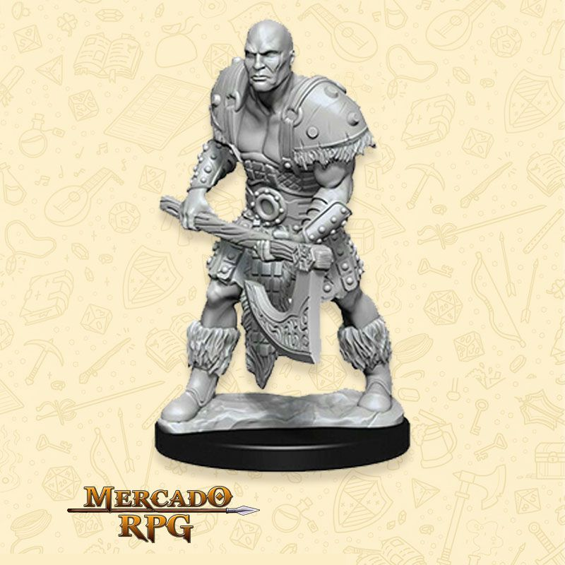 Goliath Male Barbarian B - Miniatura RPG