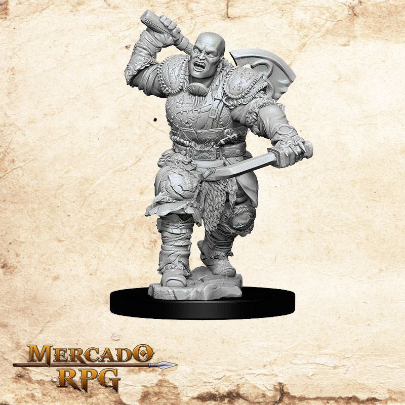 Goliath Male Fighter A - Miniatura RPG