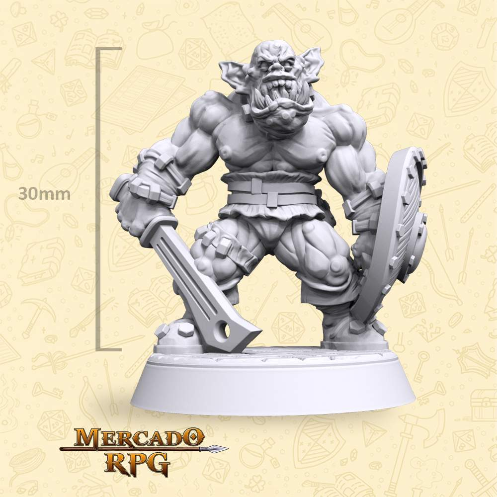 Graka Orc Soldier - Miniatura - RPG