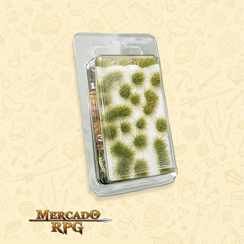 Grass TUFTS - 6mm self-adhesive - DRY GREEN - RPG