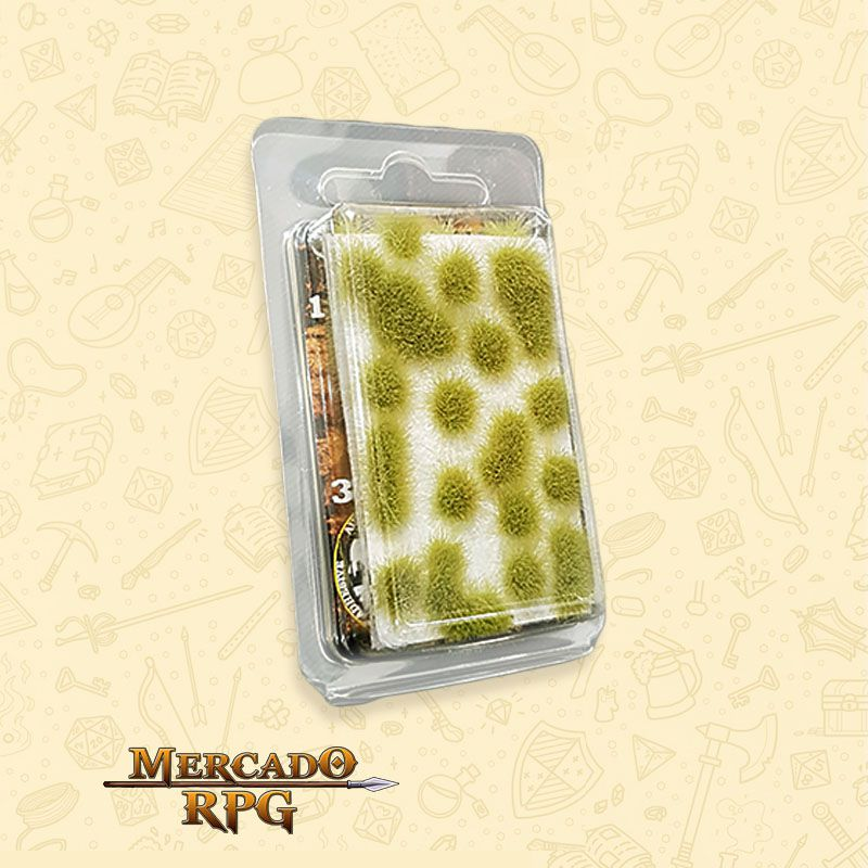 Grass TUFTS - 6mm self-adhesive - REALISTIC GREEN - RPG
