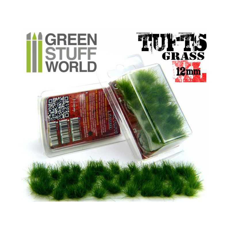 Grass TUFTS XL - 12mm self-adhesive - DARK GREEN - RPG  - Mercado RPG