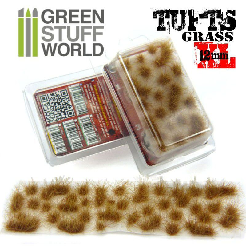 Grass TUFTS XL - 12mm self-adhesive - DRY BROWN - RPG  - Mercado RPG