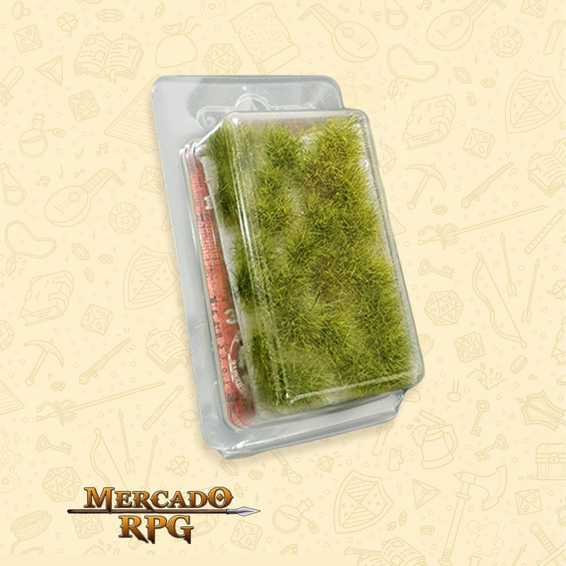 Grass TUFTS XL - 12mm self-adhesive - REALISTIC GREEN - RPG