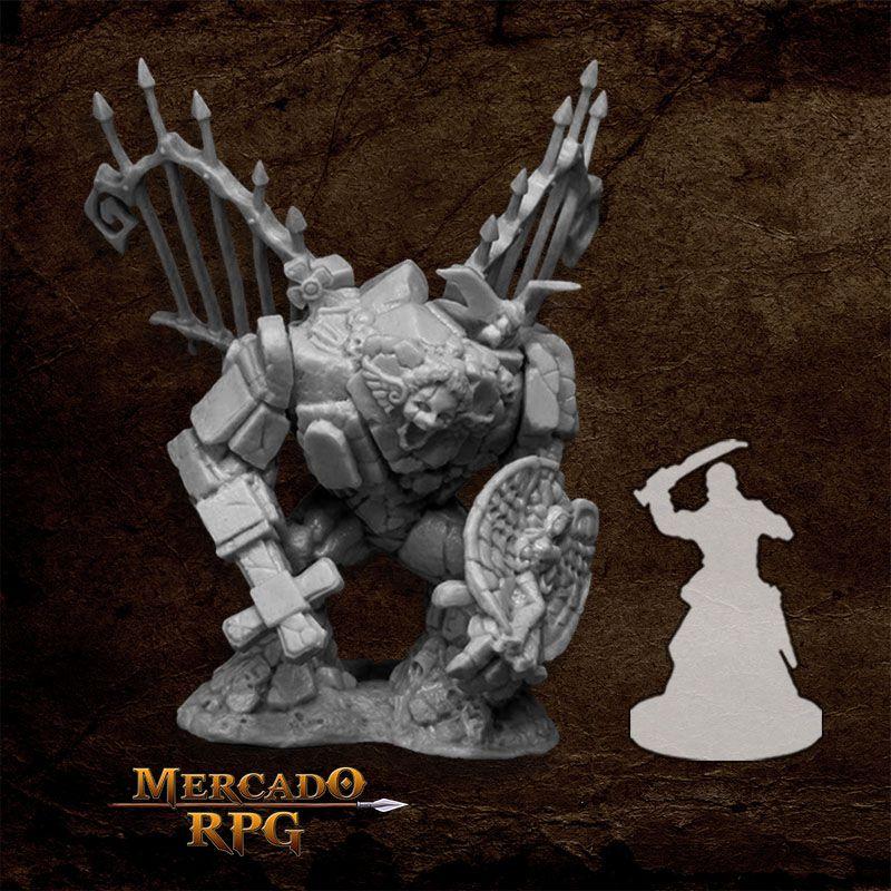 Graveyard Golem - Miniatura RPG  - Mercado RPG
