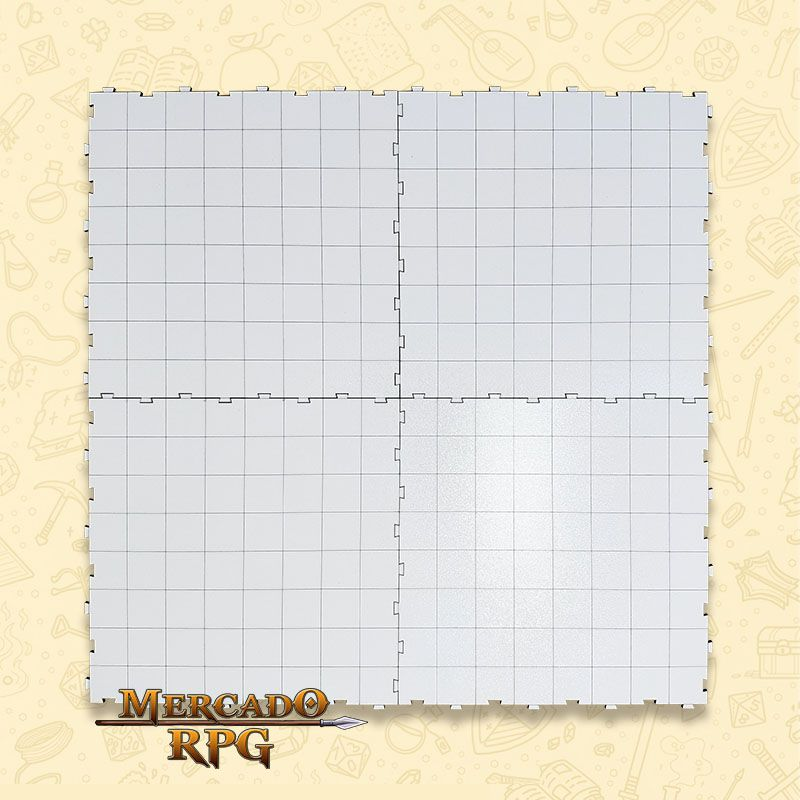 Grid de Batalha Modular Riscável - RPG Battle Grid D&D  - Mercado RPG