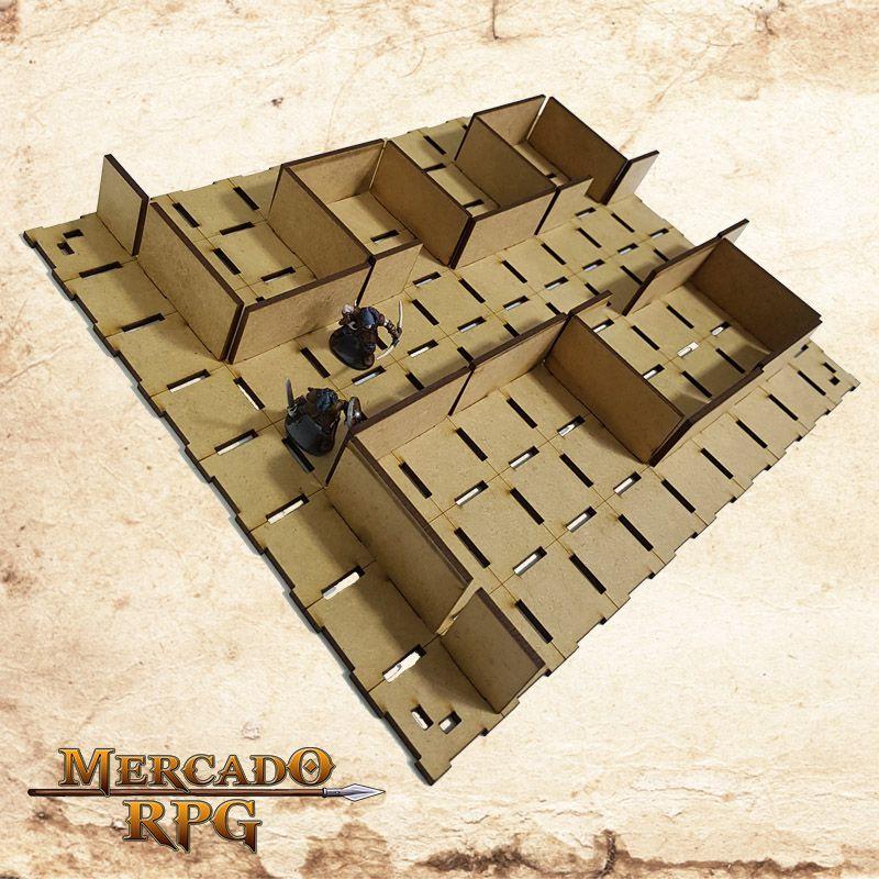 Grid Modular 3D - RPG Battle Grid D&D  - Mercado RPG