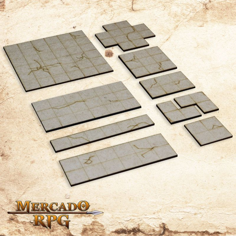 Grid  Modular  Dungeon 3D - RPG Battle Grid D&D