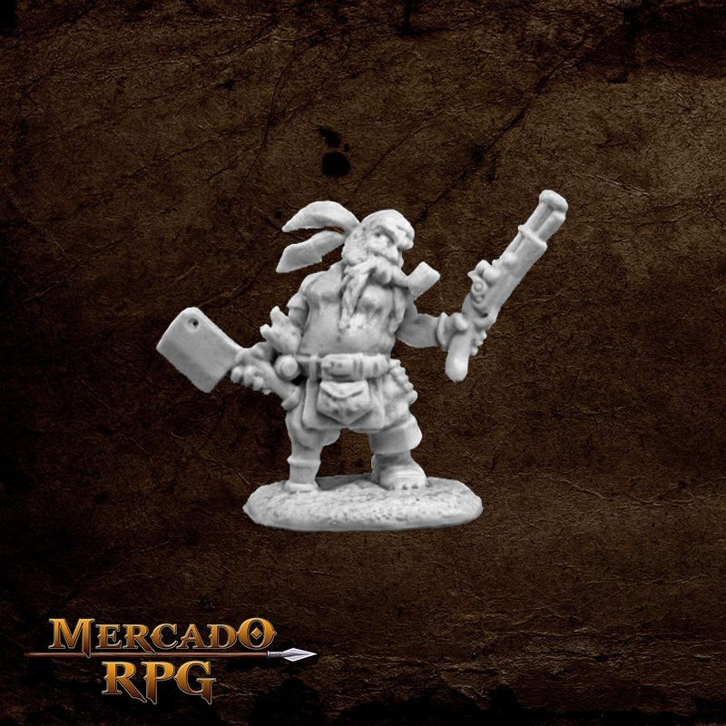 Gruff Grimecleaver, Dwarf Pirate  - Mercado RPG