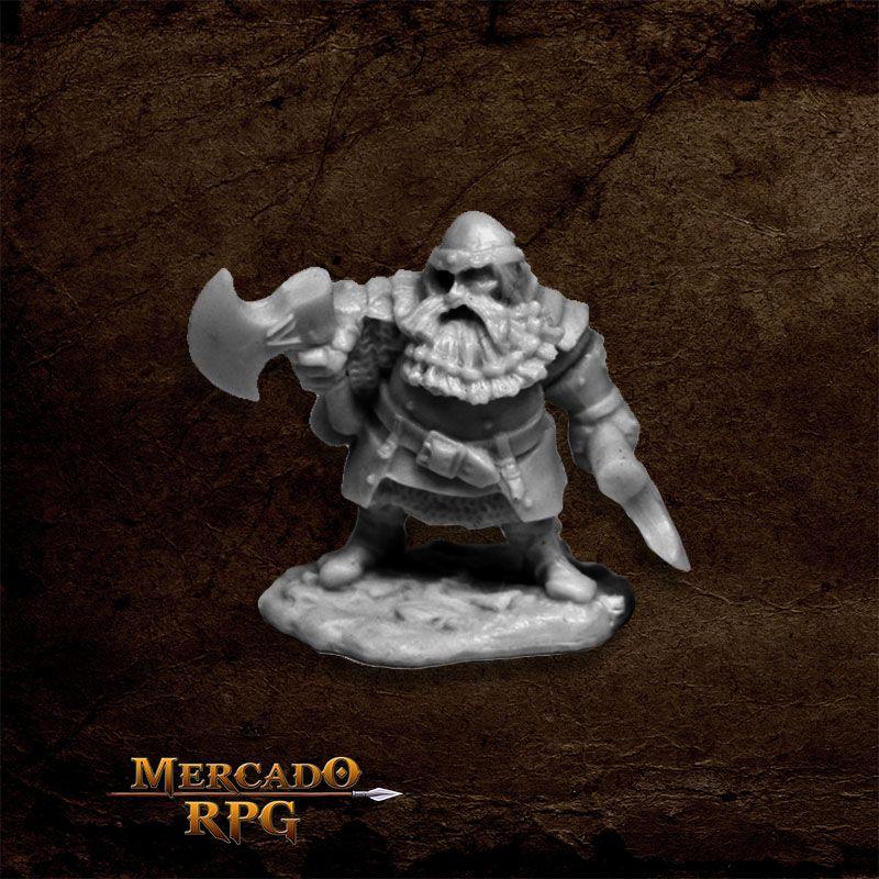 Hagar, Dwarven Hero - Miniatura RPG