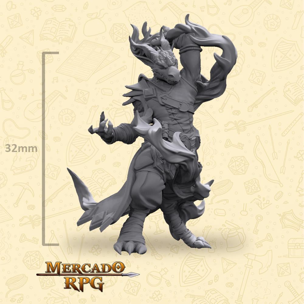 Half-Dragon Sorcerer - Miniatura - RPG