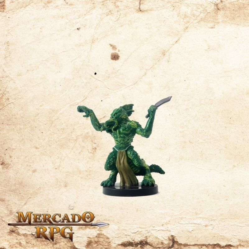 Half-Illithid Lizardfolk - Com Carta  - Mercado RPG