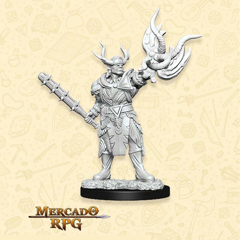 Half-Orc Druid A - Miniatura RPG  - Mercado RPG