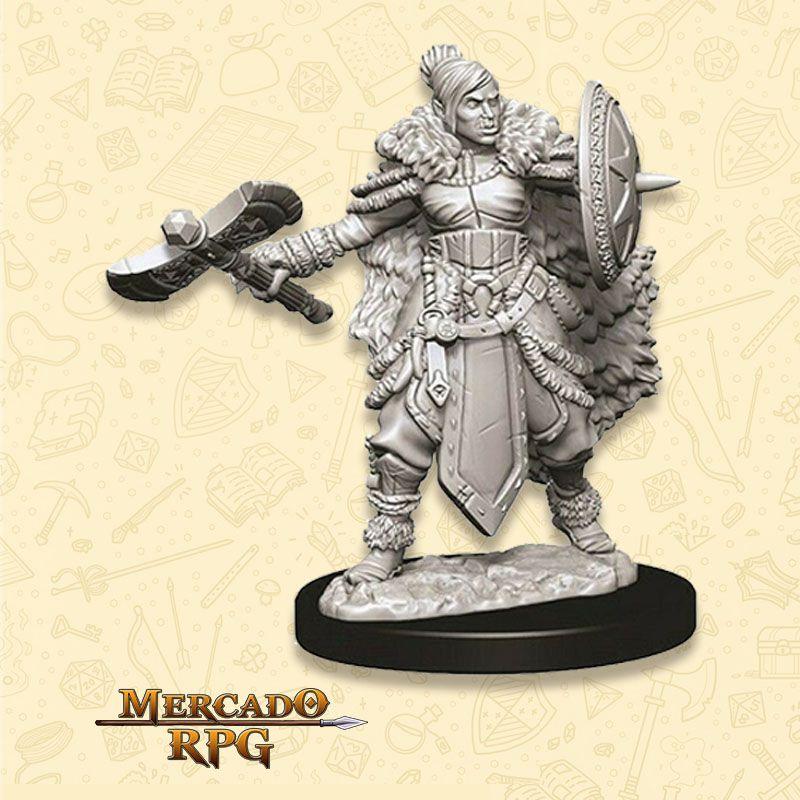 Half-Orc Female Barbarian C - Miniatura RPG