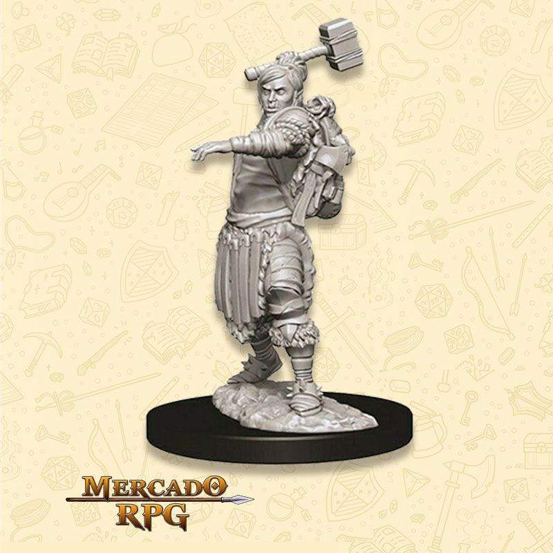 Half-Orc Female Barbarian D - Miniatura RPG