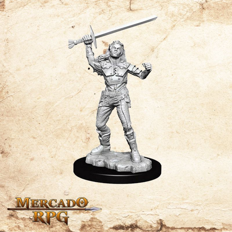 Half-Orc Female Fighter A - Miniatura RPG