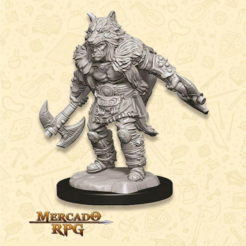 Half-Orc Male Barbarian C - Miniatura RPG  - Mercado RPG
