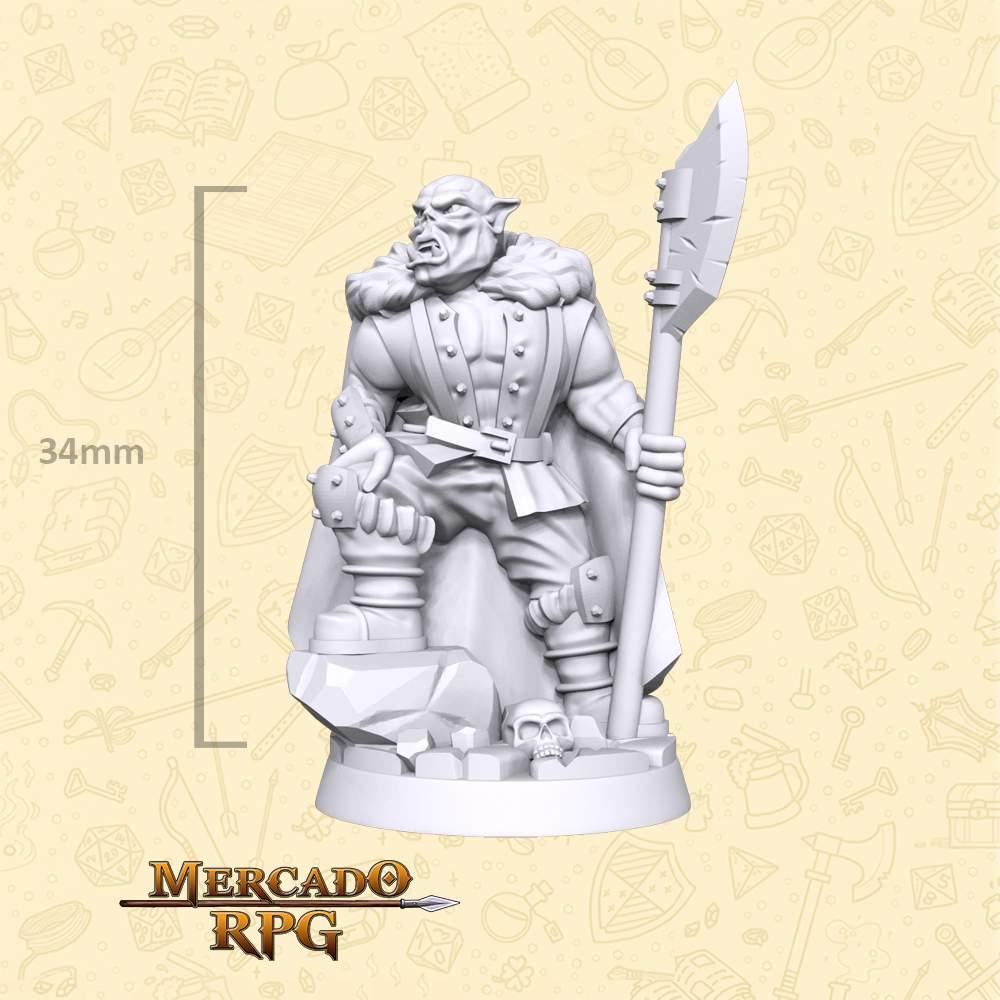 Half Orc - Bandit - Miniatura - RPG