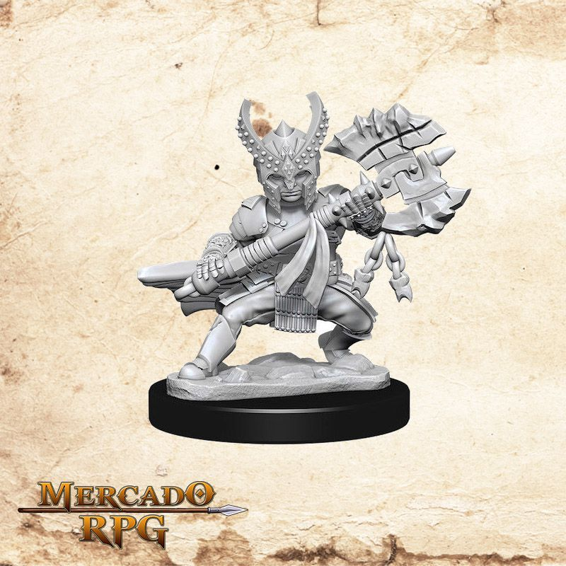 Halfling Female Fighter A - Miniatura RPG