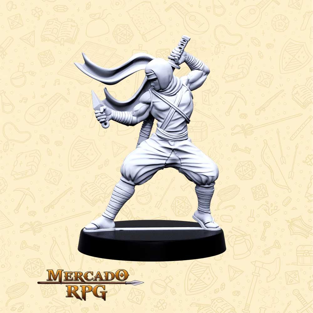 Hanzo Lâmina Mortal - Basilisco Miniaturas - Resina - Miniaturas para RPG
