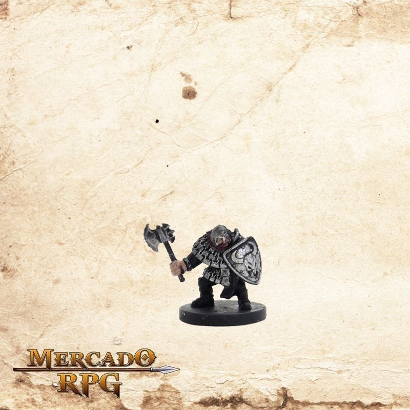 Hill Dwarf Warrior  - Com Carta  - Mercado RPG