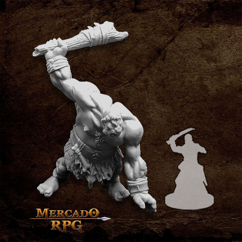 Hill Giant Lowland Warrior - Miniatura RPG  - Mercado RPG