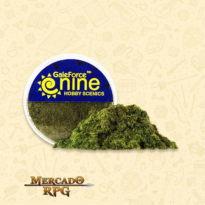 Hobby Round - Dark Green Static Grass- RPG  - Mercado RPG
