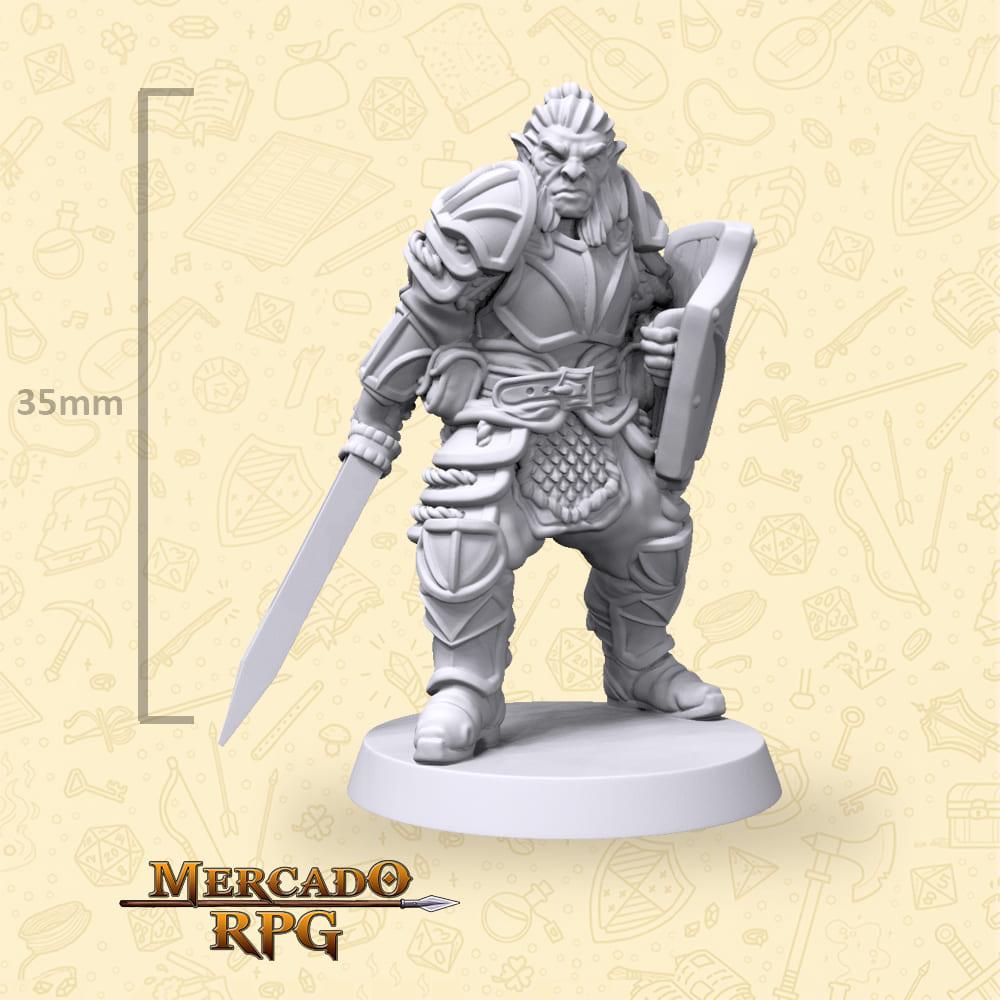 Hobgoblin Sword and Shield - Miniatura - RPG