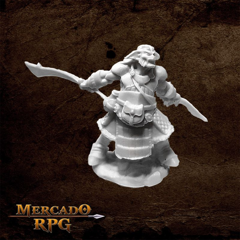 Hobgoblin Veteran Two Swords - Miniatura RPG