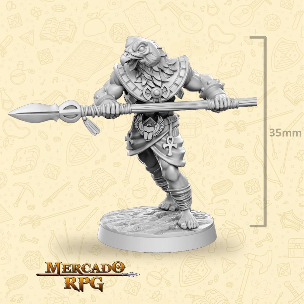 Horathi Warrior Spear - Miniatura - RPG