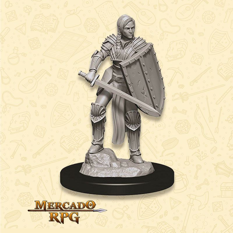 Human Female Fighter D - Miniatura RPG  - Mercado RPG
