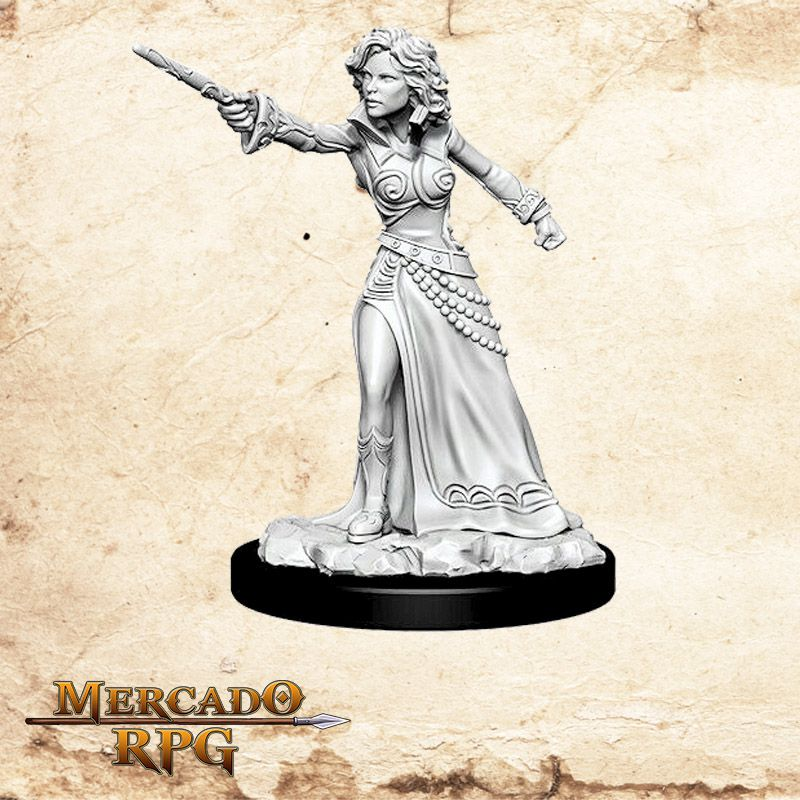 Human Female Wizard D - Miniatura RPG