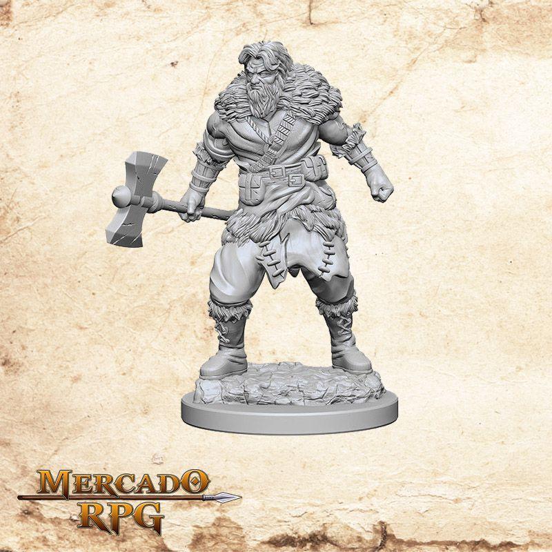 Human Male Barbarian A - Miniatura RPG